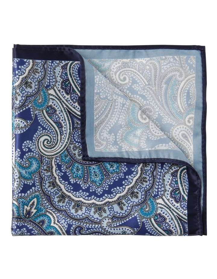 Paisley Pocket Square Navy image 1