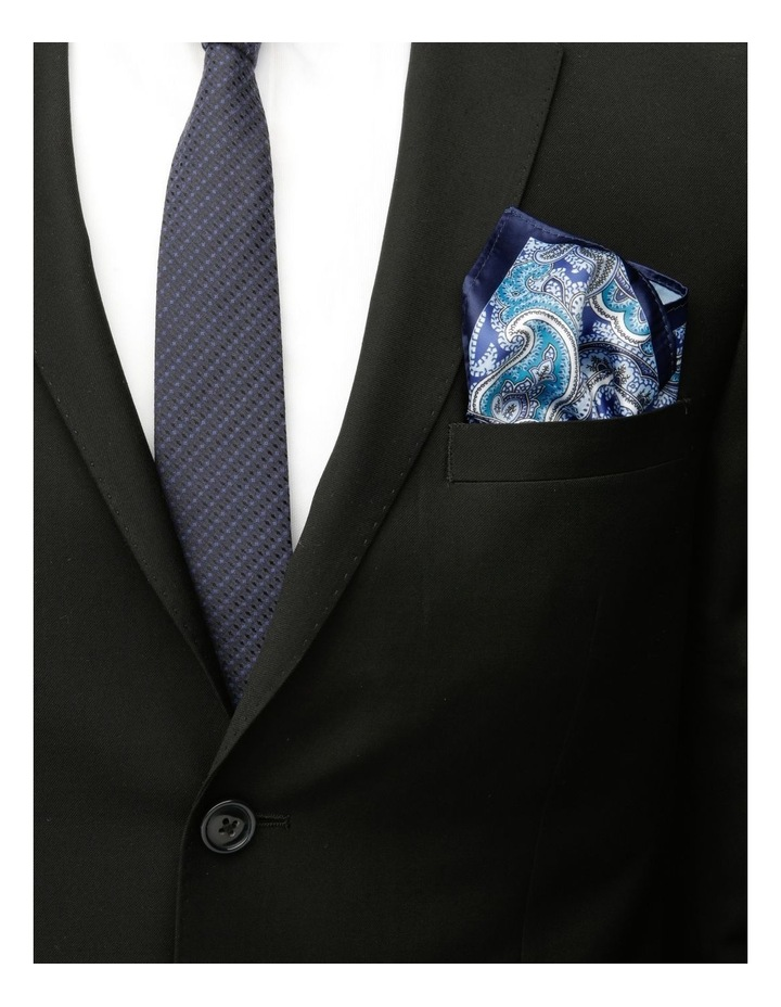Paisley Pocket Square Navy image 2