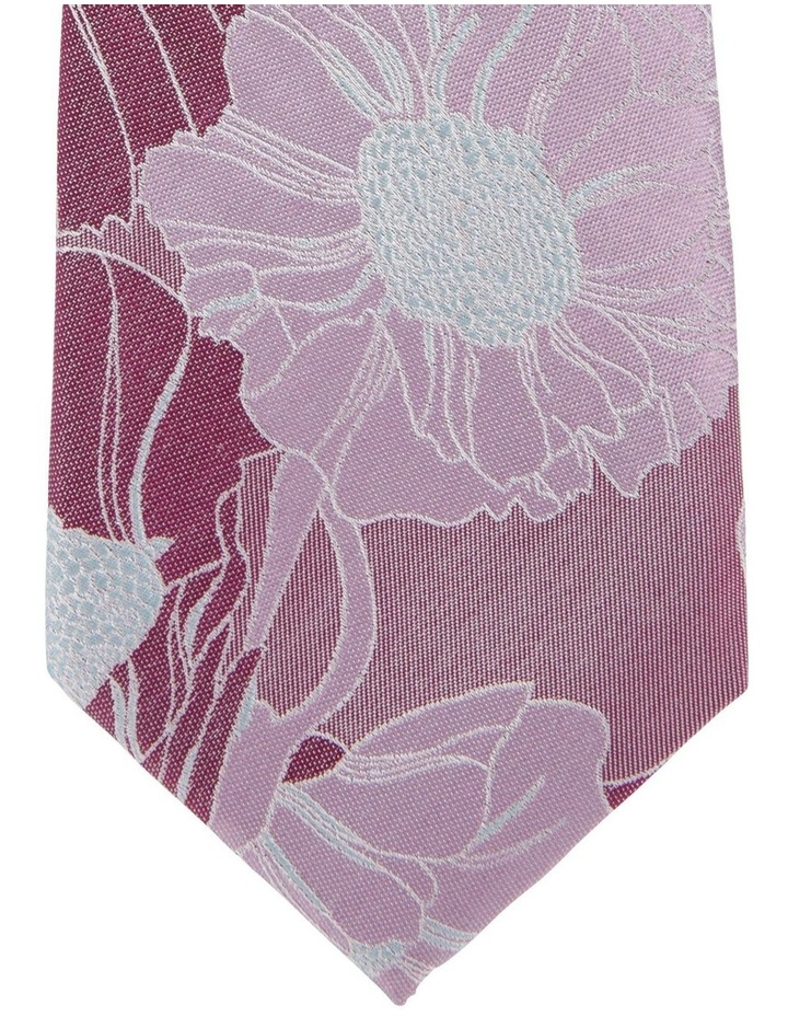 Large Floral Silk Tie image 2