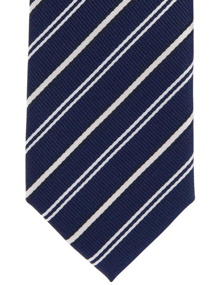 Blaq Diagonal Stripe Tie Pink image 2