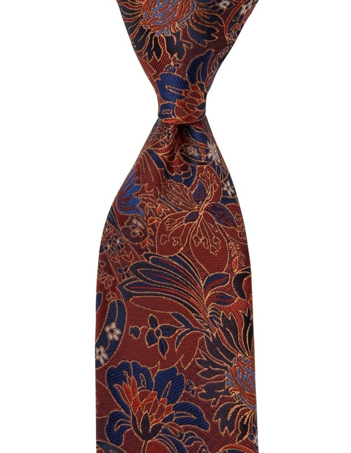 Large Floral Tie Orange image 1
