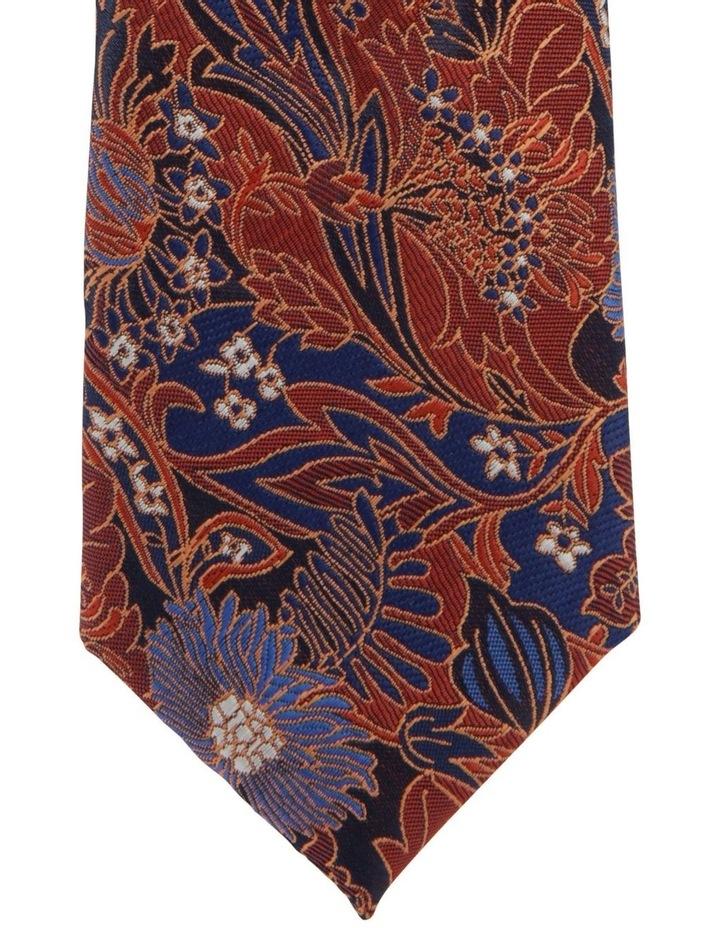 Large Floral Tie Orange image 2