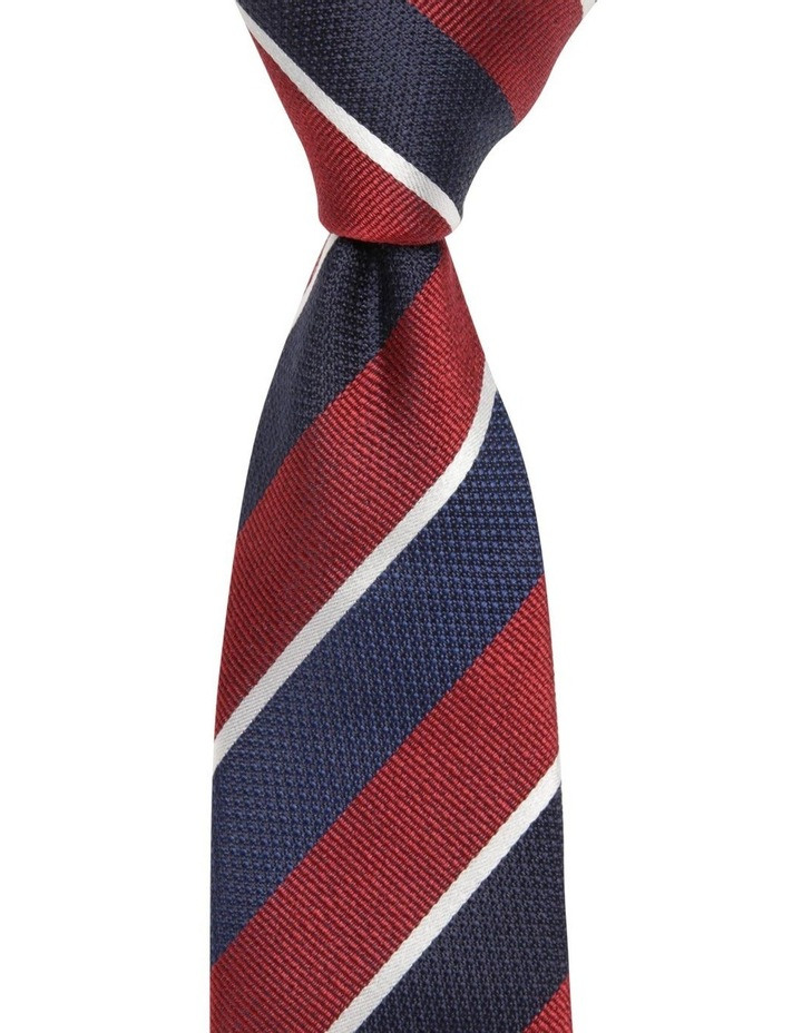 Diagonal Stripe Tie Red image 1