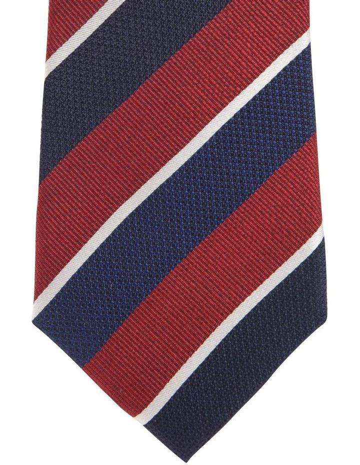 Diagonal Stripe Tie Red image 2