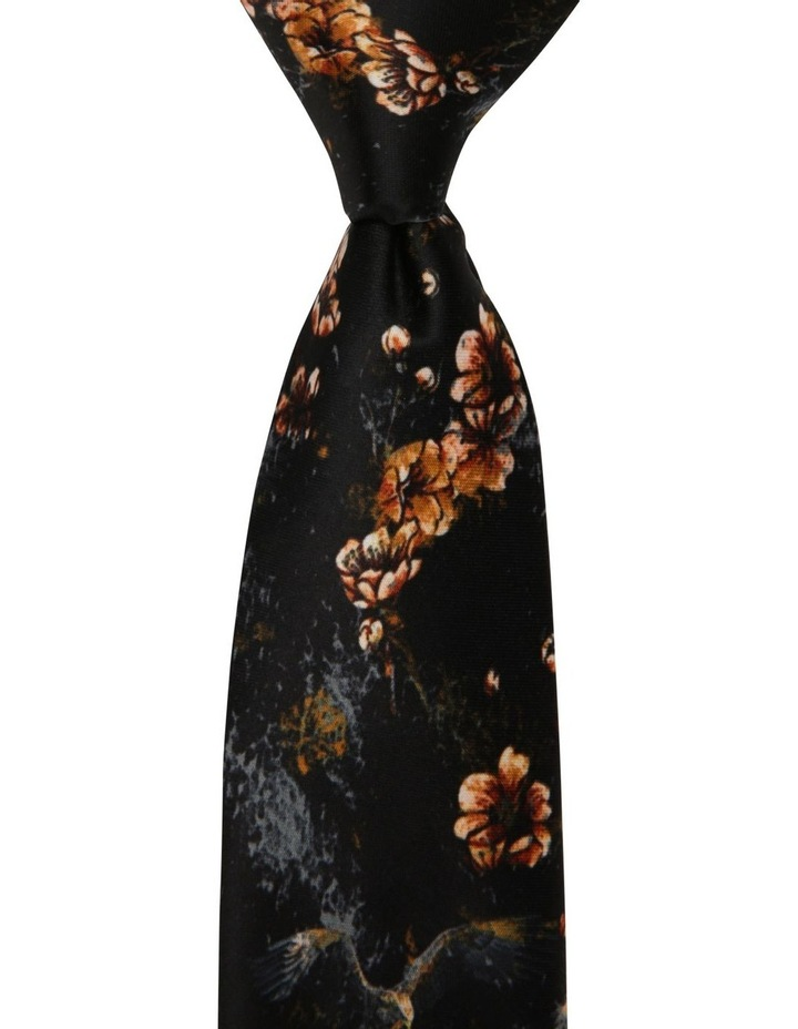 Floral Falcon Print Tie image 1