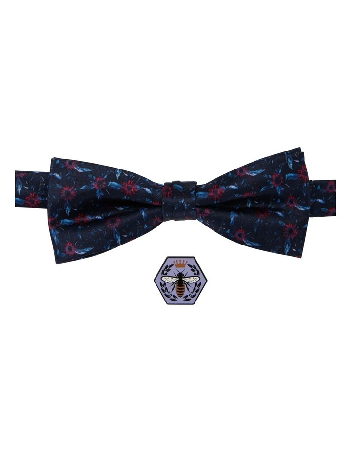 Floral Bow Tie And Bee Pin image 1