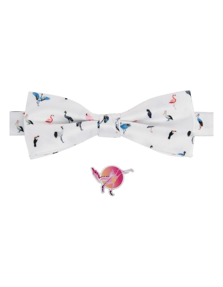 Birds Bow Tie And Flamingo Pin image 1