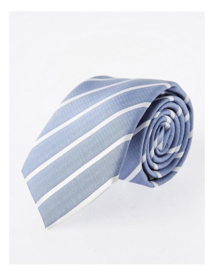 Blaq Blue Stripe Tie image 4