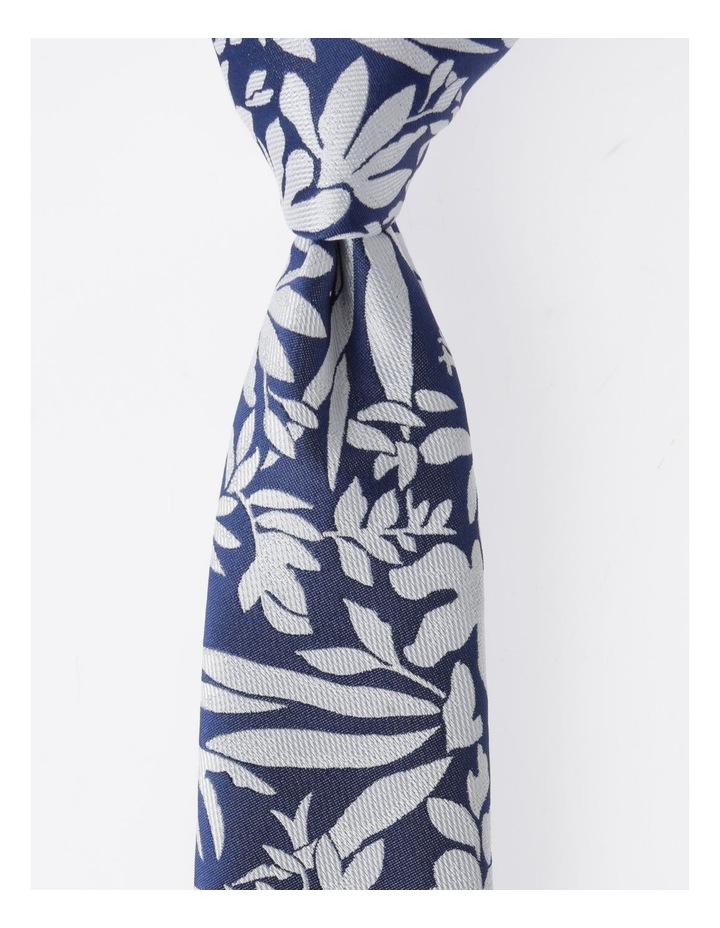 Blaq Navy Floral Tie image 1
