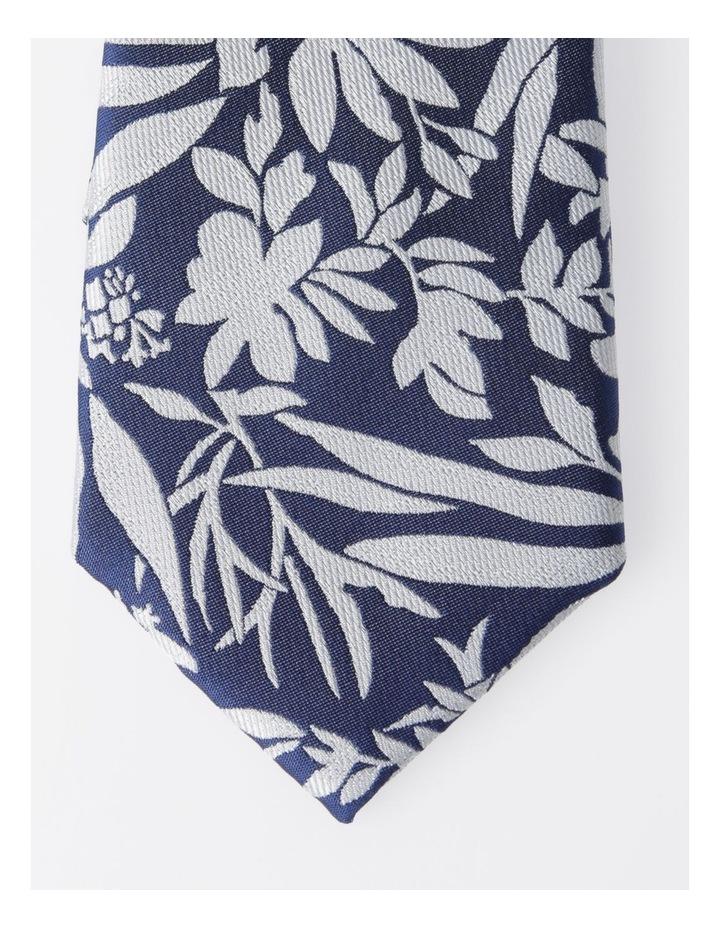 Blaq Navy Floral Tie image 2