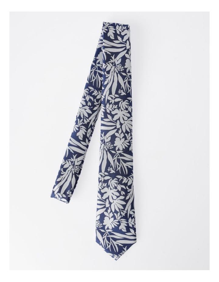 Blaq Navy Floral Tie image 3
