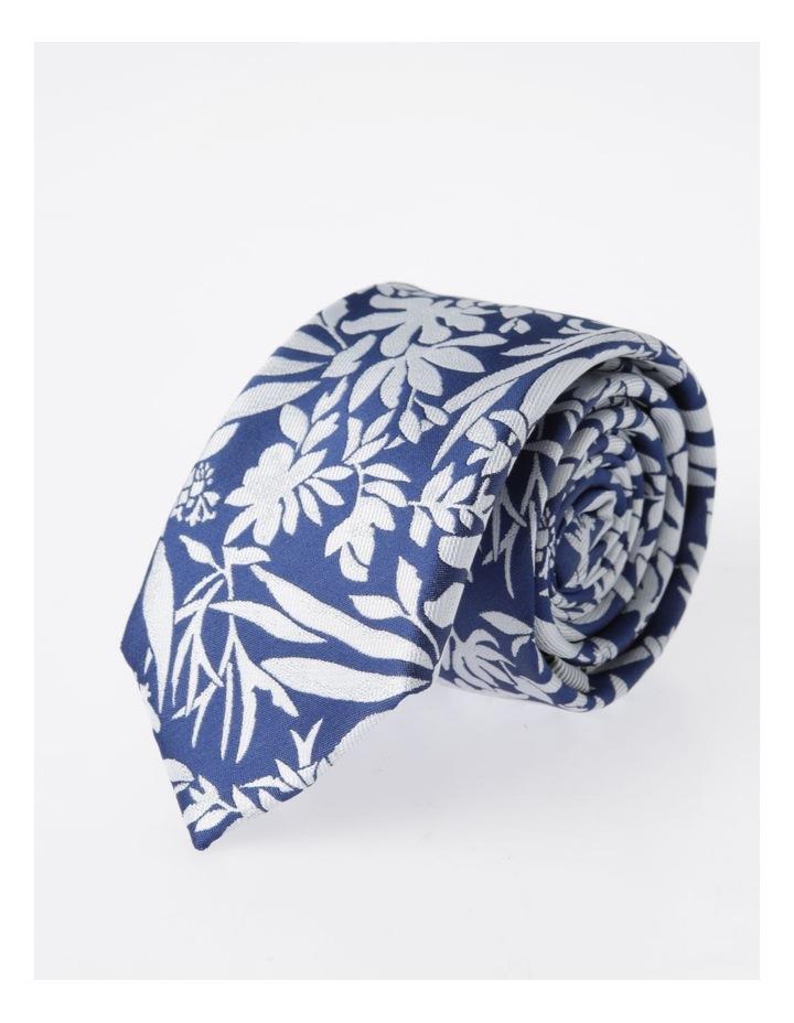 Blaq Navy Floral Tie image 4