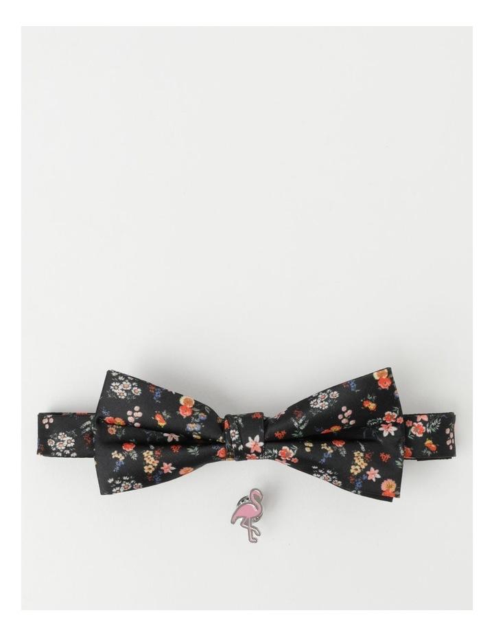 Kenji Caviar Print Bow Tie And Pin image 1