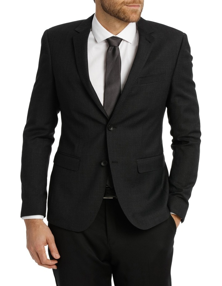 Charcoal Birdseye Suit Jacket 4Q7401 image 1