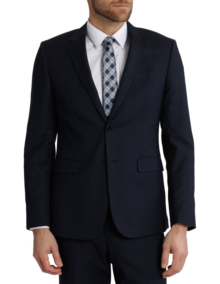 Tailored Fit Birdseye Suit Jacket image 1