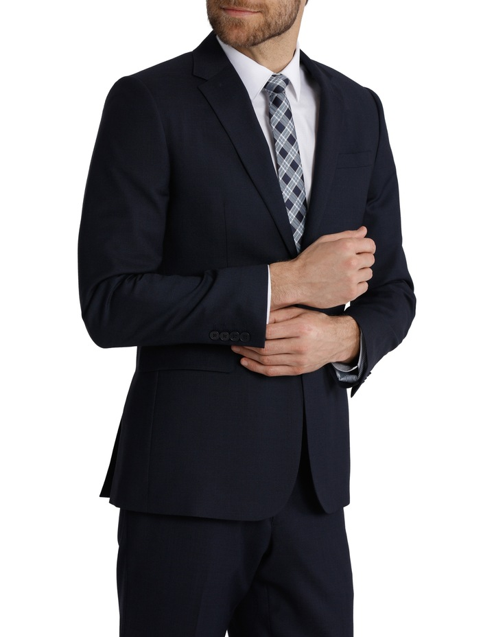 Tailored Fit Birdseye Suit Jacket image 2
