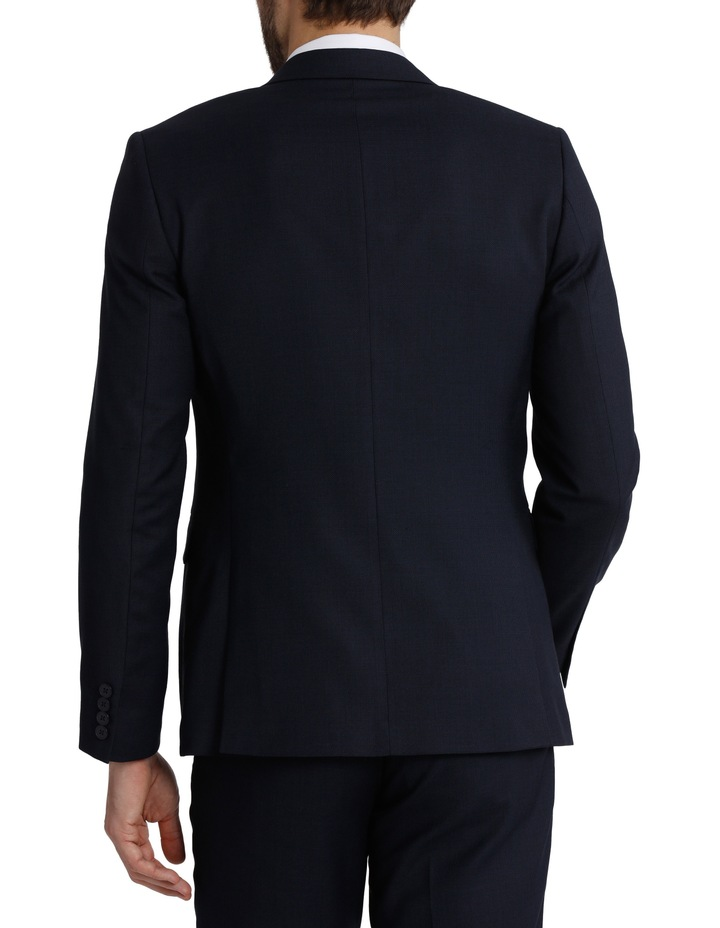 Tailored Fit Birdseye Suit Jacket image 3