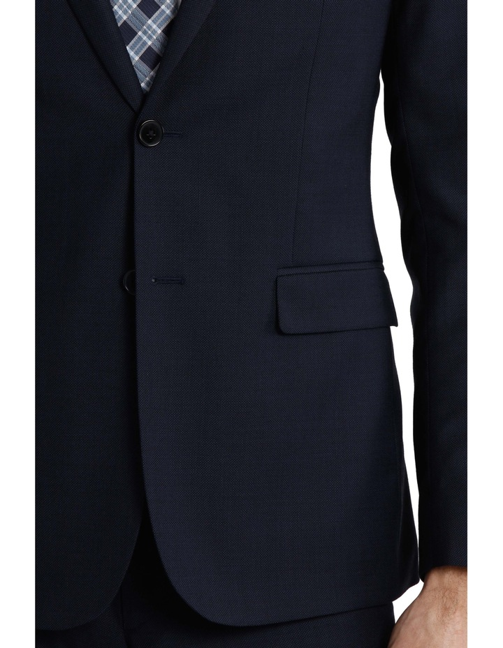 Tailored Fit Birdseye Suit Jacket image 4