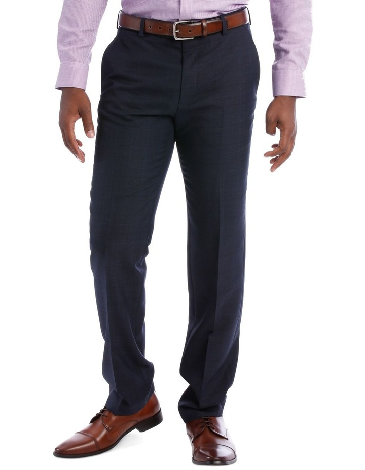 Wool Blend Suit Trouser Navy Check image 2