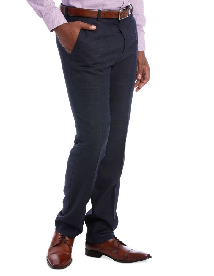 Wool Blend Suit Trouser Navy Check image 4
