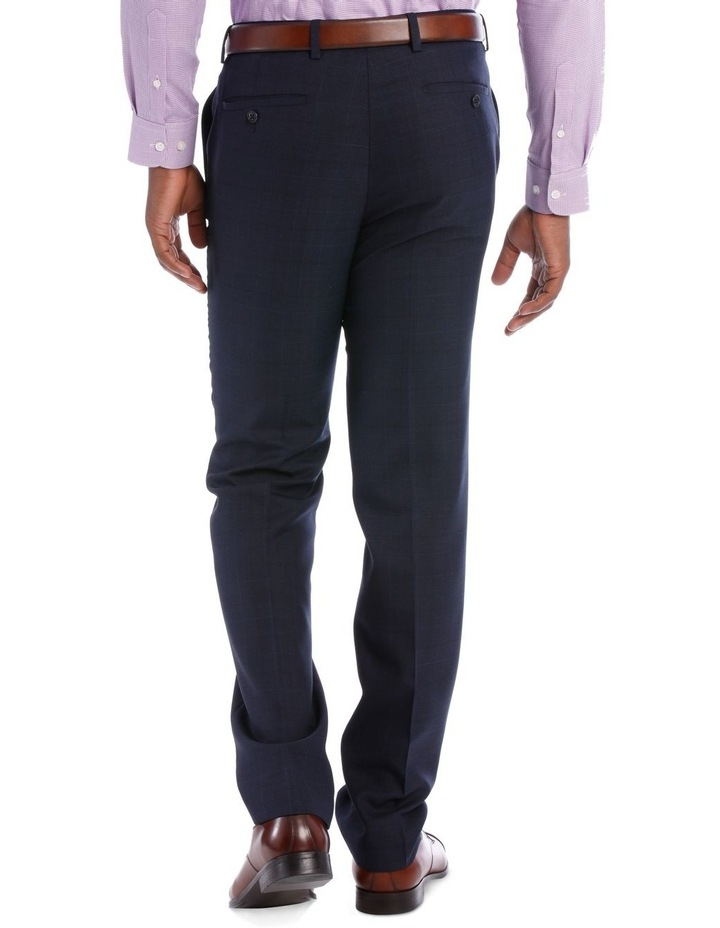 Wool Blend Suit Trouser Navy Check image 6