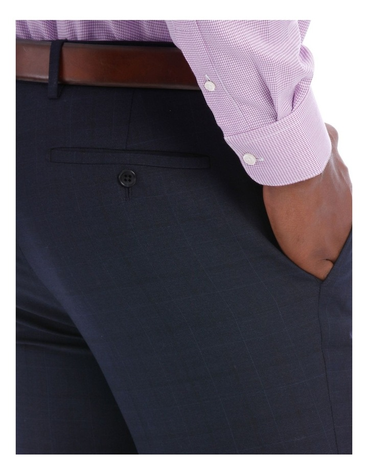 Wool Blend Suit Trouser Navy Check image 8