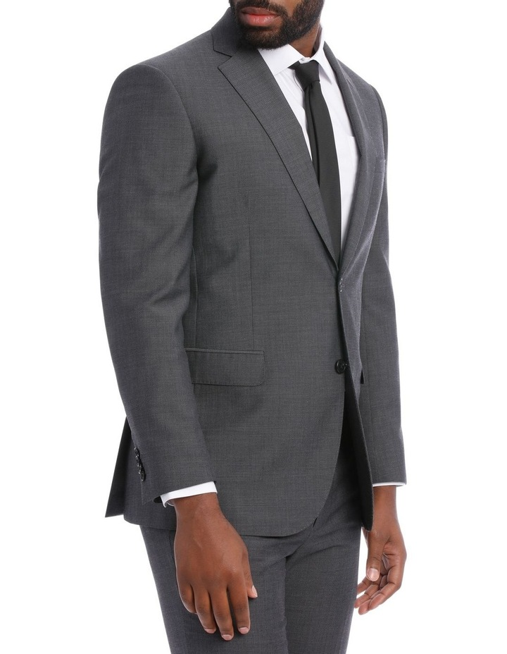 Textured Wool Blend Grey Suit Jacket image 4