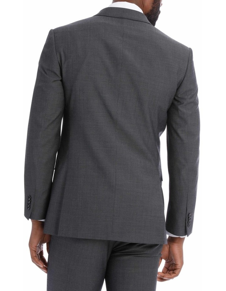 Textured Wool Blend Grey Suit Jacket image 6