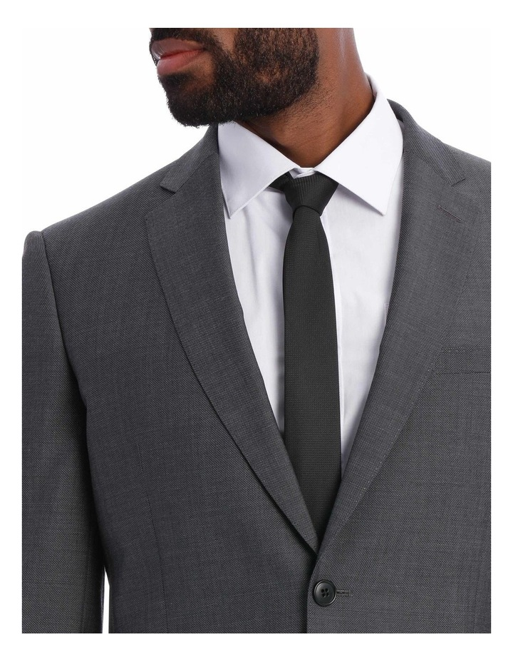 Textured Wool Blend Grey Suit Jacket image 8