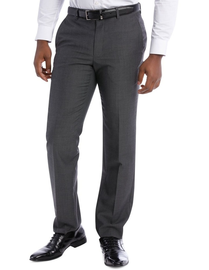 Textured Wool Blend Grey Suit Trouser image 2
