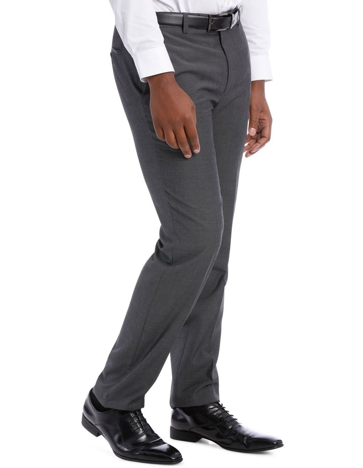 Textured Wool Blend Grey Suit Trouser image 4