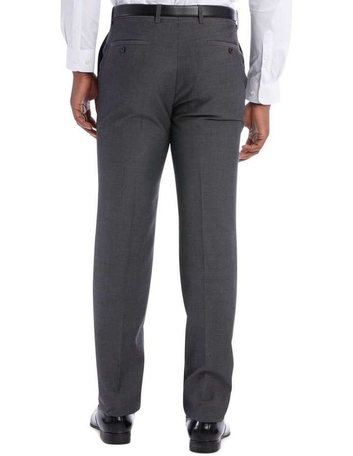 Textured Wool Blend Grey Suit Trouser image 6