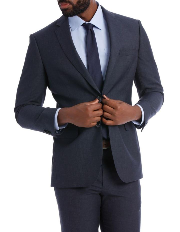 Wool Blend Suit Jacket Petrol Pindot image 2