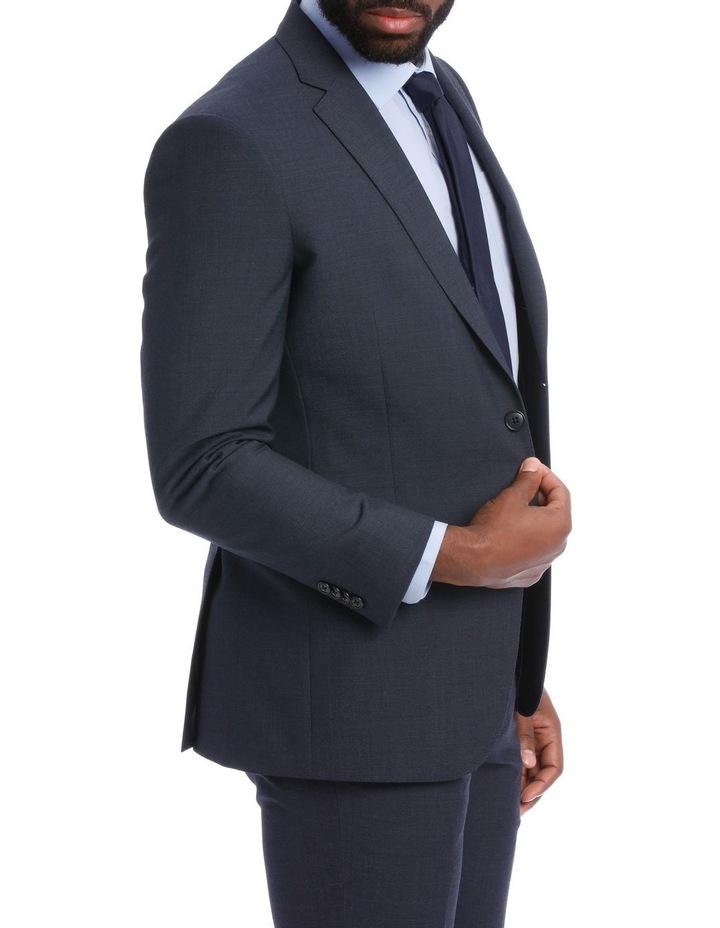 Wool Blend Suit Jacket Petrol Pindot image 4