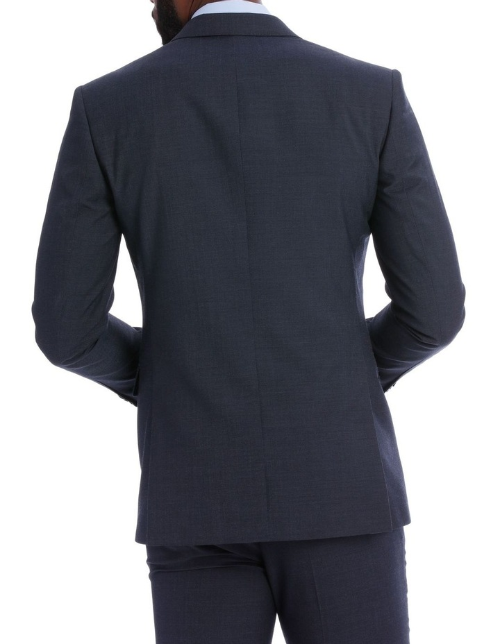 Wool Blend Suit Jacket Petrol Pindot image 6