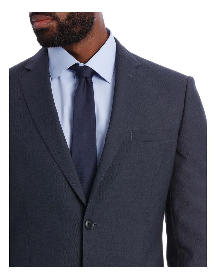 Wool Blend Suit Jacket Petrol Pindot image 8