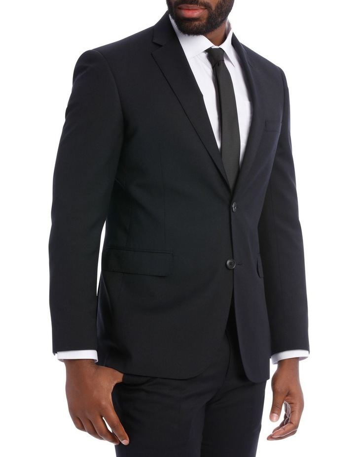Black Pindot Wool Blend Suit Jacket image 4