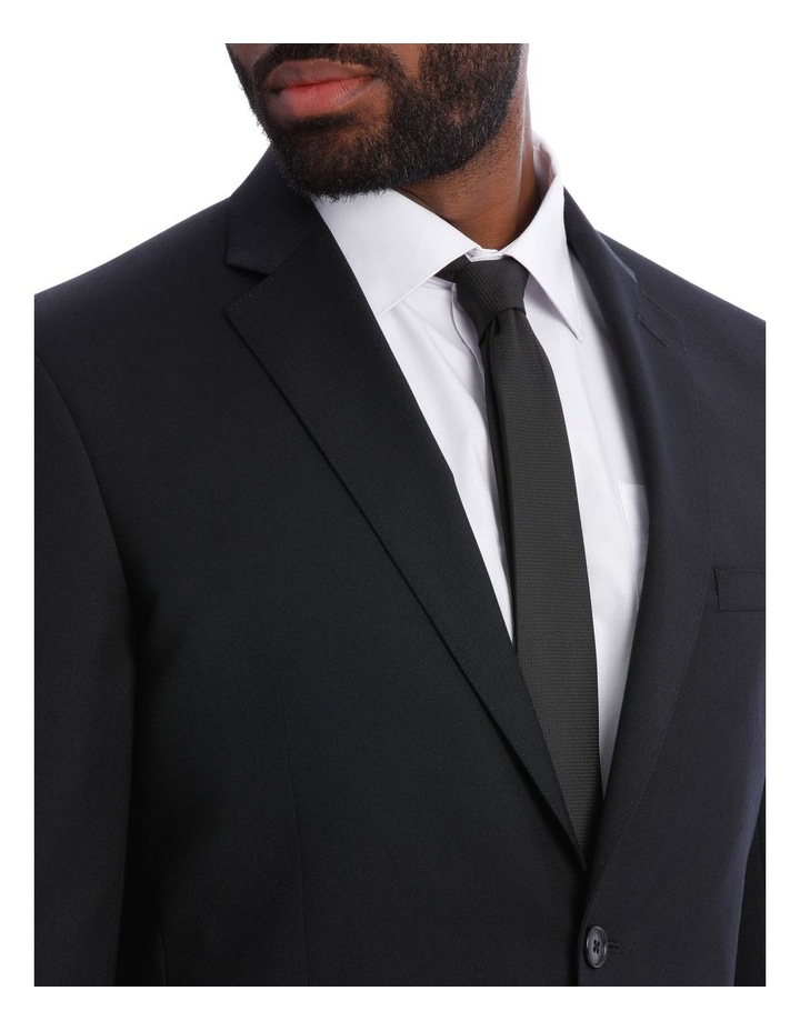 Black Pindot Wool Blend Suit Jacket image 8