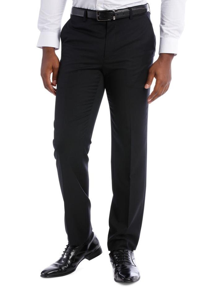 Black Pindot Wool Blend Suit Trouser image 2
