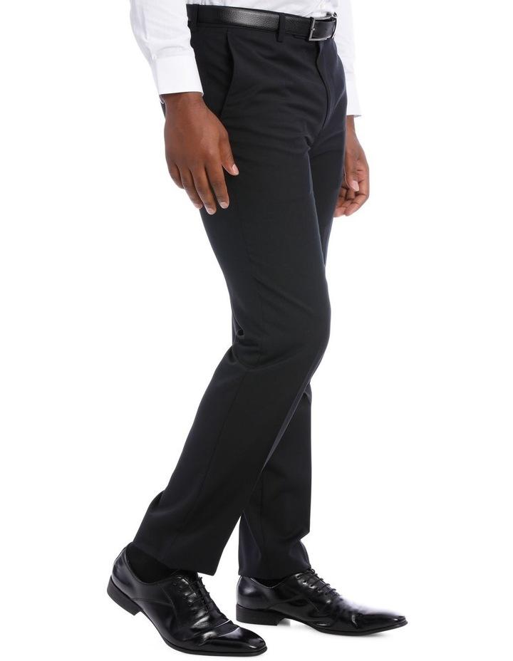 Black Pindot Wool Blend Suit Trouser image 4