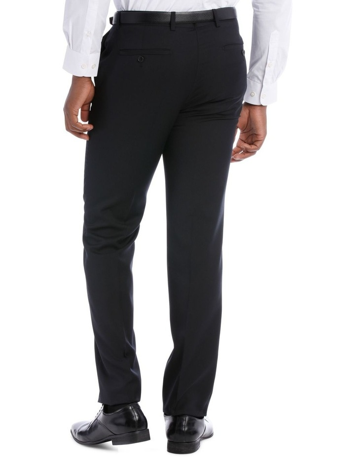 Black Pindot Wool Blend Suit Trouser image 6