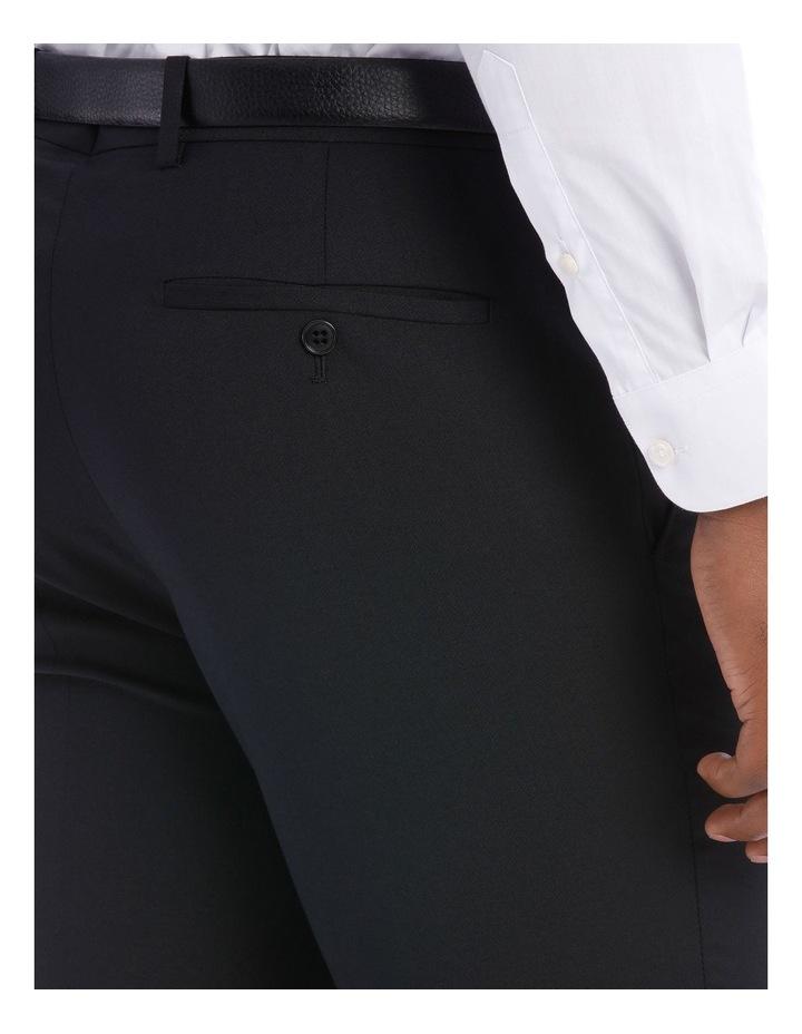 Black Pindot Wool Blend Suit Trouser image 8