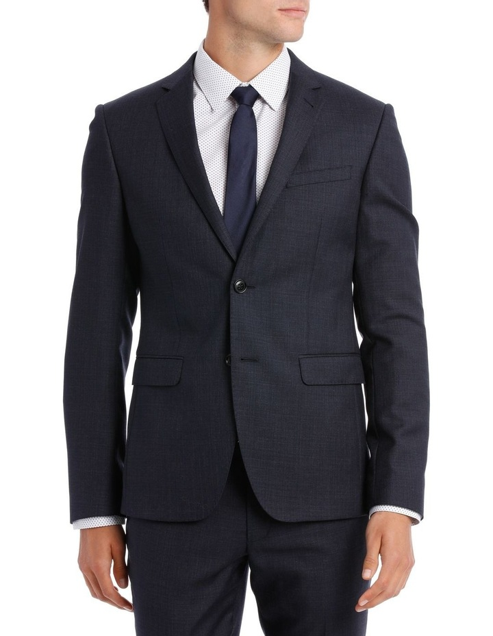 Tailored Navy Weave Suit Jacket image 1
