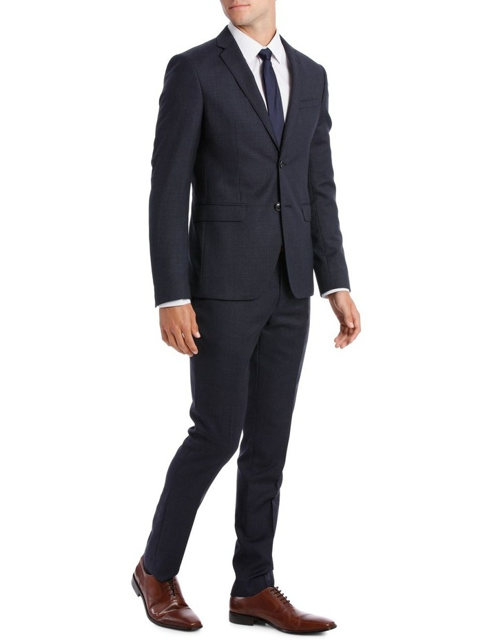 Tailored Navy Weave Suit Jacket image 2