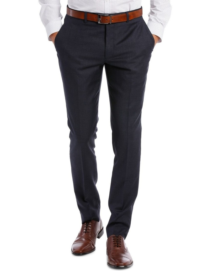 Tailored Navy Weave Suit Trouser image 1