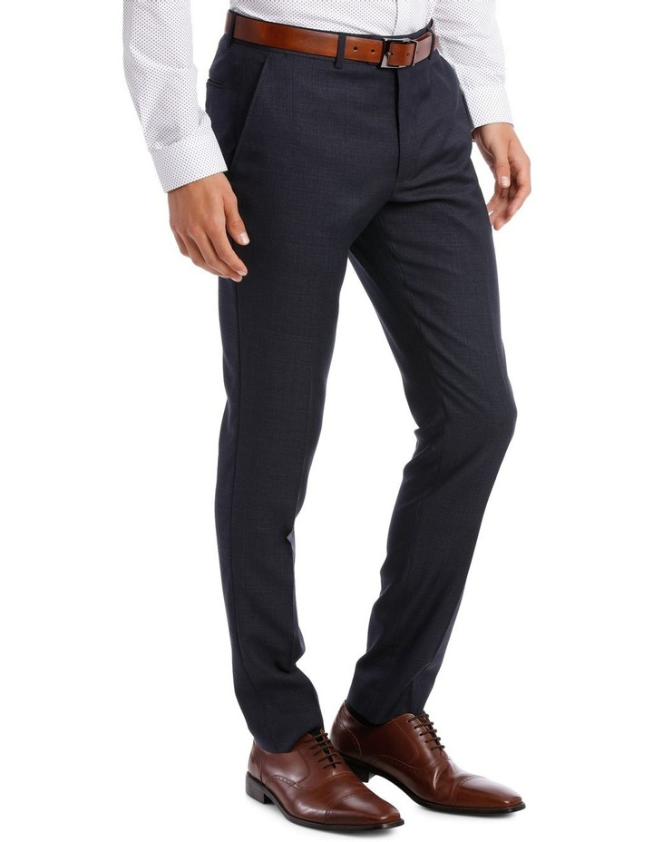 Tailored Navy Weave Suit Trouser image 2