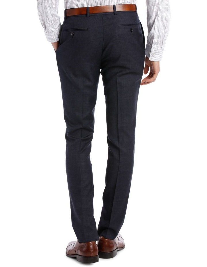 Tailored Navy Weave Suit Trouser image 3
