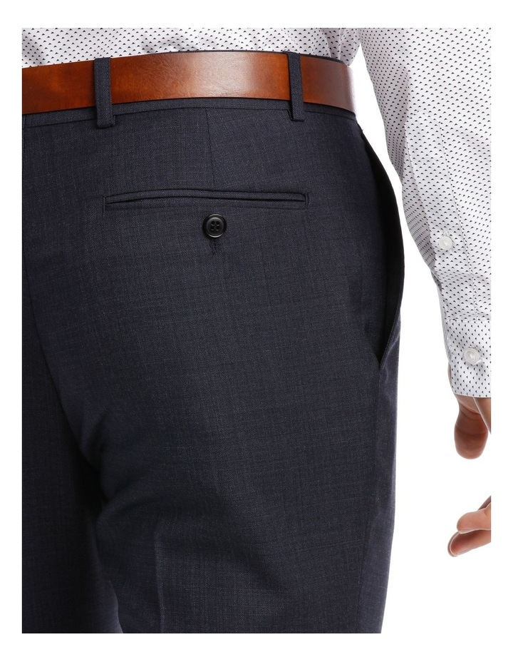 Tailored Navy Weave Suit Trouser image 4