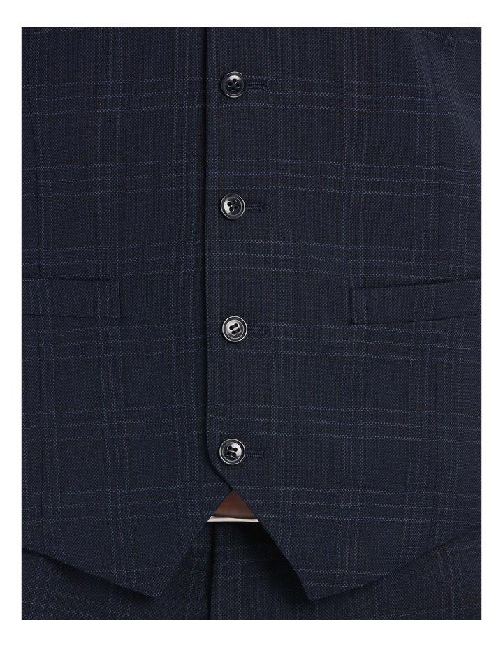 Navy Textured Check Waistcoat image 4