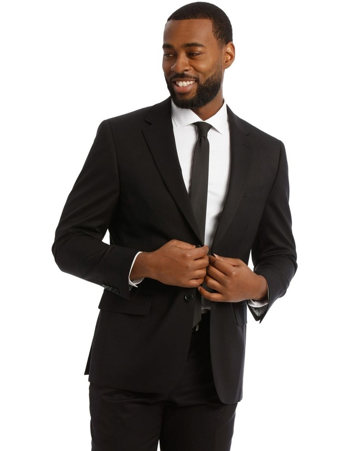 Black Twill Suit Jacket image 1